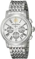 Brooks Brothers Men's SILGC001 Chronograph Collection Analog Display Automatic Self Wind Silver Watch