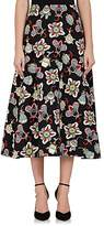 Valentino Women's Floral Wool-Silk A-Line Midi-Skirt