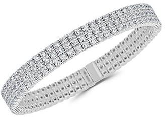 Zydo Stretch 18K White Gold & Diamond 3-Row Bracelet