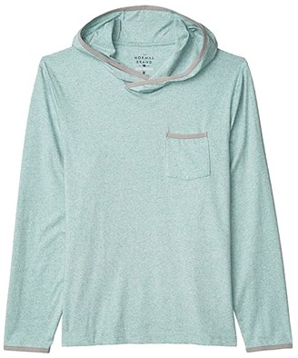 The Normal Brand Active Puremeso Pocket Hoodie (Blue Haze) Men's Clothing