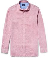 Hackett Slim-Fit Slub Linen Shirt
