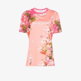 Givenchy cherry blossom logo print T-shirt