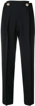 Incotex metallic button trousers
