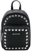 Love Moschino studded logo backpack - women - Polyurethane - One Size