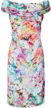 Gina Bacconi Saletta Floral Satin Dress