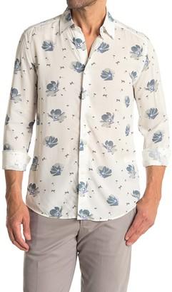 Reiss Phoenix Floral Print Slim Fit Shirt