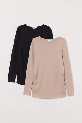 H&M MAMA 2-pack cotton tops