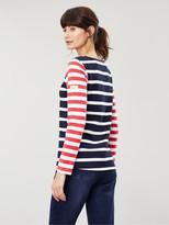 Joules Harbour Long Sleeve Jersey Top - Navy/Cream