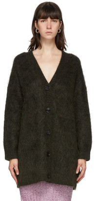 Acne Studios Green Mohair and Wool Long Cardigan
