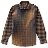 Murano Manhattan Collection Slim-Fit Long-Sleeve Plaid Sportshirt