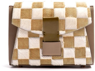 Ostwald Finest Couture Bags Glide Loop Small In Olive Taupe & White
