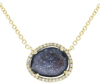 Kamaria Baby Geode Halo Necklace With Diamonds