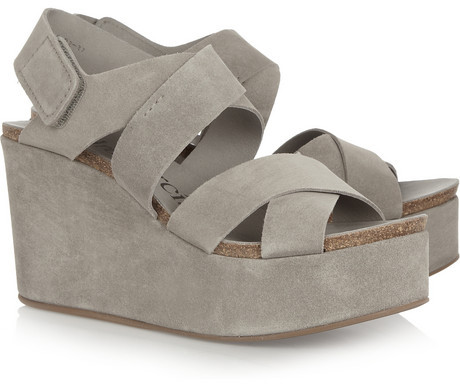 Pedro Garcia Delsie suede wedge sandals