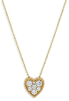 Bloomingdale's Diamond Heart Pendant Necklace in 14k Yellow Gold, 0.50 ct. t.w. - 100% Exclusive