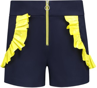 The Endless Summer High Waisted Shorts In Navy Blue