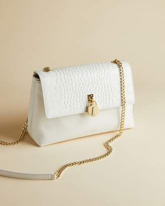 Ted Baker MACCIIE Exotic croc leather cross body bag