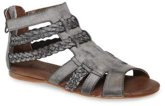 ROAN Willa Braided Leather Gladiator Sandal