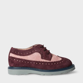 Paul Smith Girls' 7+ Years Damson And Pink Suede 'Grand' Brogues