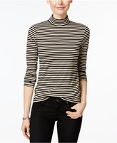 Charter Club Striped Mock-Neck Top, Only at Macys