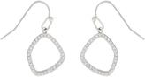 Accessorize Platinum Organic Shape Short Drop Earrings