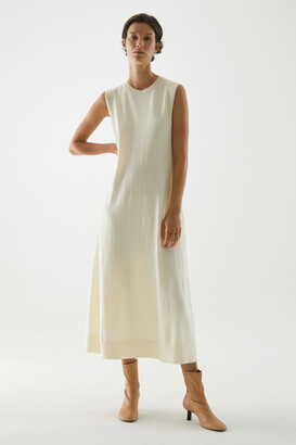 Cos Knitted A-Line Merino Wool Dress