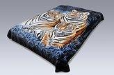 Korean Solaron Super High Quality Thick Mink Blanket (Queen, 3 Tigers BLACK)