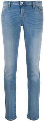 Emporio Armani High Rise Straight-Leg Stonewashed Jeans