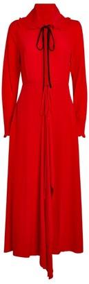 Victoria Beckham Ruffle-Collar Maxi Dress