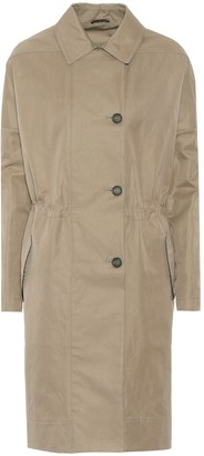 Brunello Cucinelli Cotton-blend tench coat