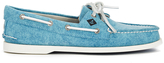 Sperry A/o 2eye White Cap Canvas Boat Shoes - Turquoise