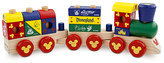Disney Mickey Mouse Wood Blocks Stacking Train Set