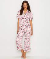 Kate Spade Charmeuse Cropped Pajama Set - Women's