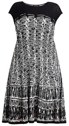 NIC+ZOE, Plus Size Garden Party Geometric Dress