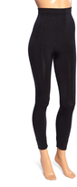 Joan Vass Black Seamless High-Waist Moderate Compression Leggings - Plus Too