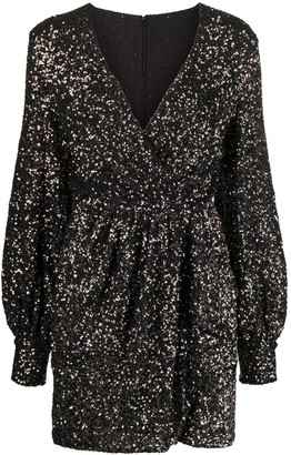 Amen Sequin-Embellished Fitted Dress