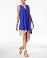 Bar III Asymmetrical Contrast Dress, Only at Macy's