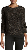 Max Studio Long-Sleeve Cozy-Knit Sweater, Black/Cafe