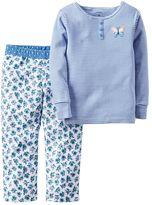 Carter's Toddler Girl 2-pc. Henley & Pants Pajama Set