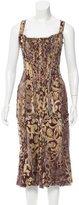 Roberto Cavalli Silk Bustier Dress