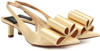 Marc Jacobs Satin slingback pumps