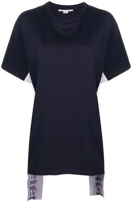 Stella McCartney Asymmetric Logo Stripe T-shirt