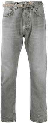 Haikure Belted Waist Jeans