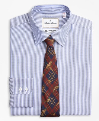 Brooks Brothers Luxury Collection Madison Classic-Fit Dress Shirt, Franklin Spread Collar Track Stripe