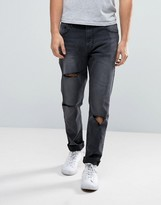 WÅVEN Drop Crotch Skinny Jeans in Vintage Black