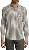 Billy Reid Kirby Check Oxford Shirt, Green