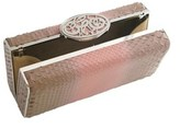 Nada Sawaya Ali Rectangular Box Clutch Bag Python Dynasty Brown.