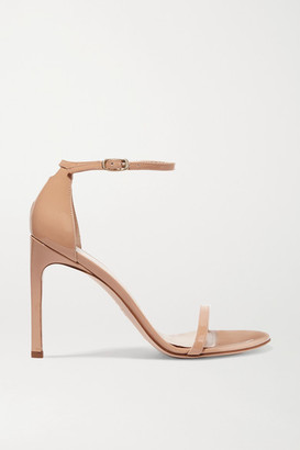 Stuart Weitzman Nudistsong Patent-leather Sandals - Beige