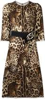Dolce & Gabbana leopard print embellished dress