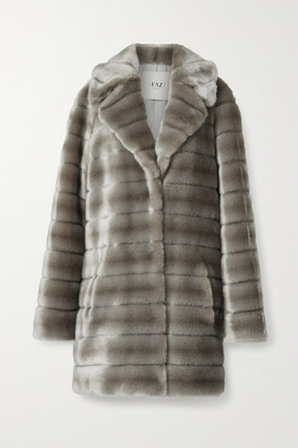 FAZ NOT FUR Oh My Deer Hoodless Faux Fur Coat - Silver