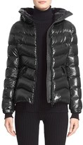 Moncler Women's 'Anthia' Water Resistant Shiny Nylon Hooded Down Puffer Jacket